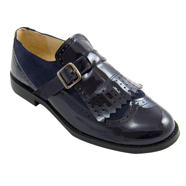 Gloria zapato colegial ingles de piel de niña